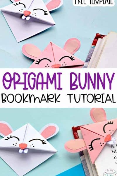 diy bunny corner bookmark