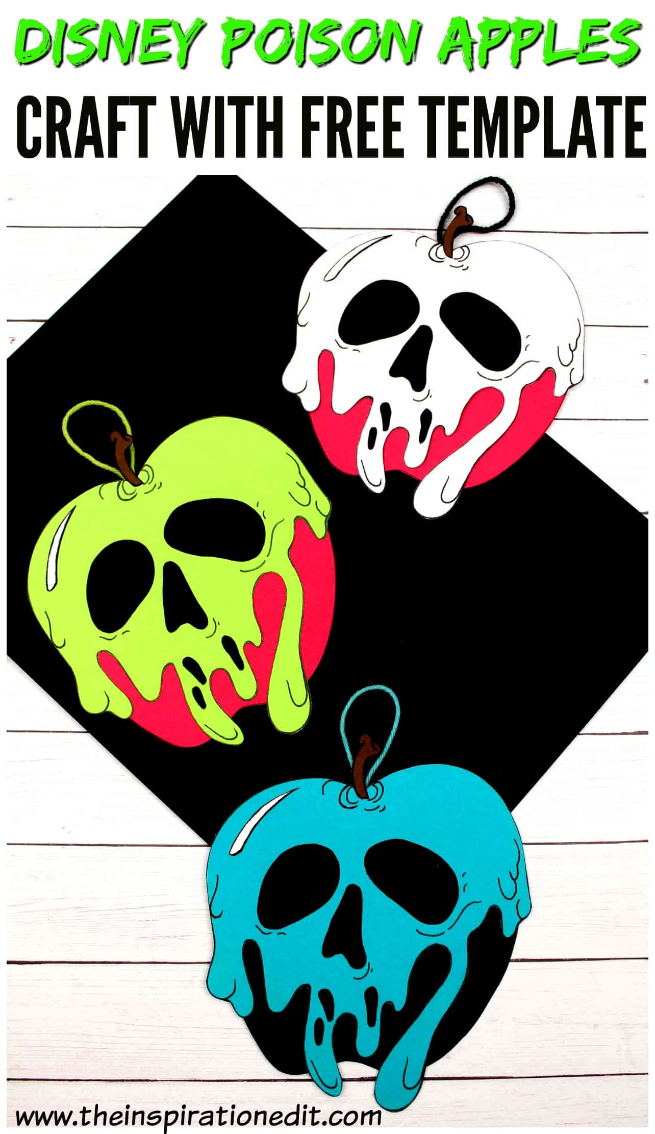 poison apples paper craft for kids