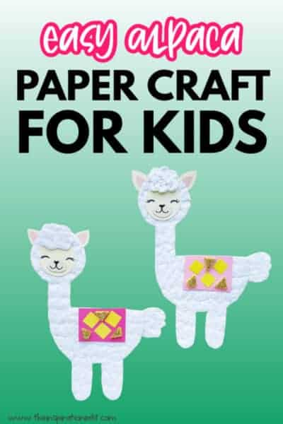 alpaca craft for kids