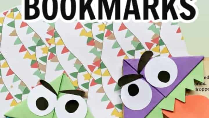 monster origami bookmarks