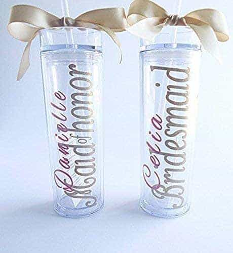 bridesmaid cups with lids