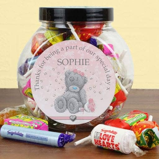 personalised candy jar