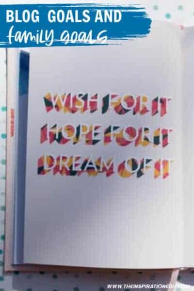 blog goals and family goals