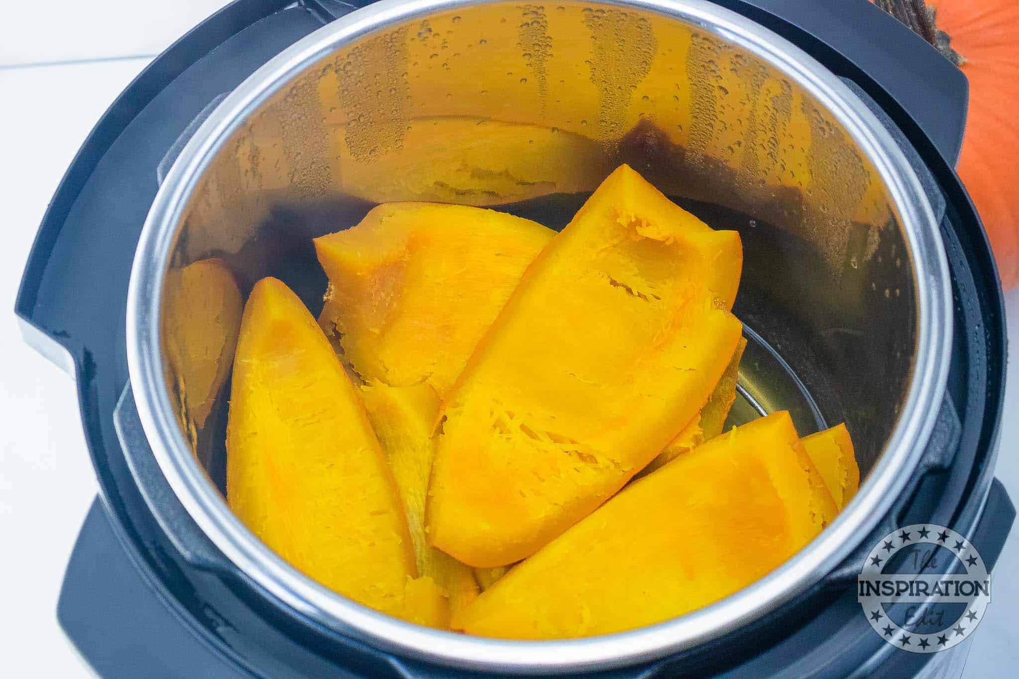 cooked pumpkin in the instant pot