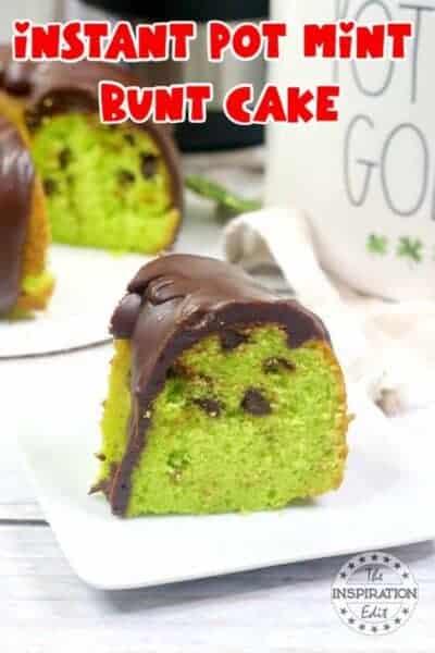 instant pot mint bundt cake