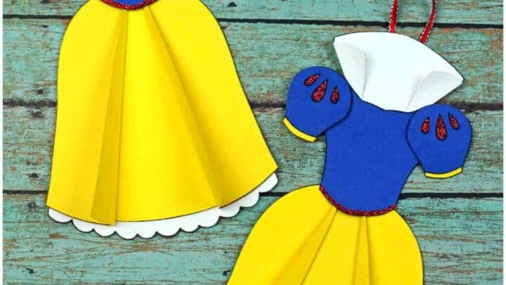 snow white Ornament with free template