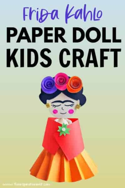 Frida kAhlo paper doll craft