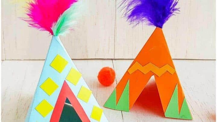 EASY TIPI CRAFT FOR KIDS