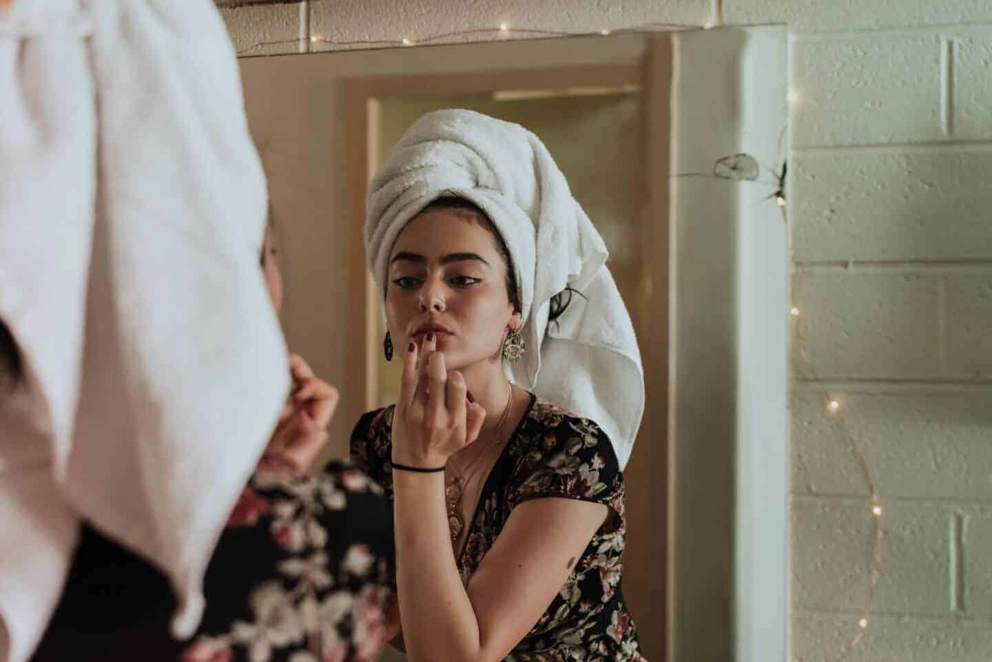 Getting Ready and putting makeup on and Beauty with age Regimen