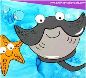 stingray craft for kids with free stingray template