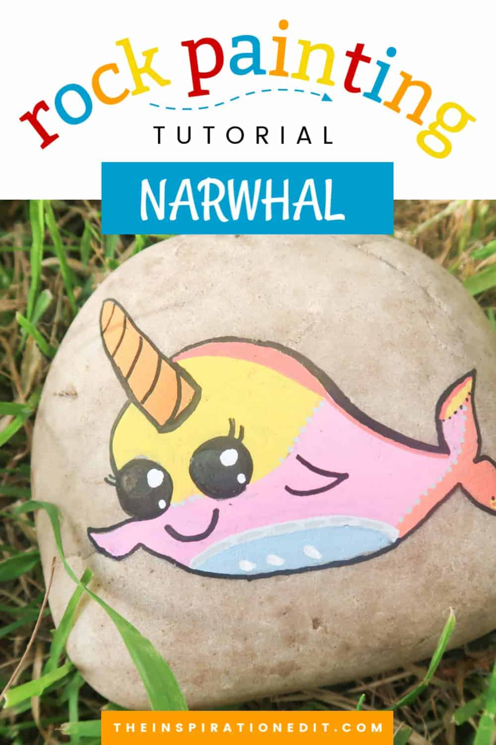 narwhal painted rock