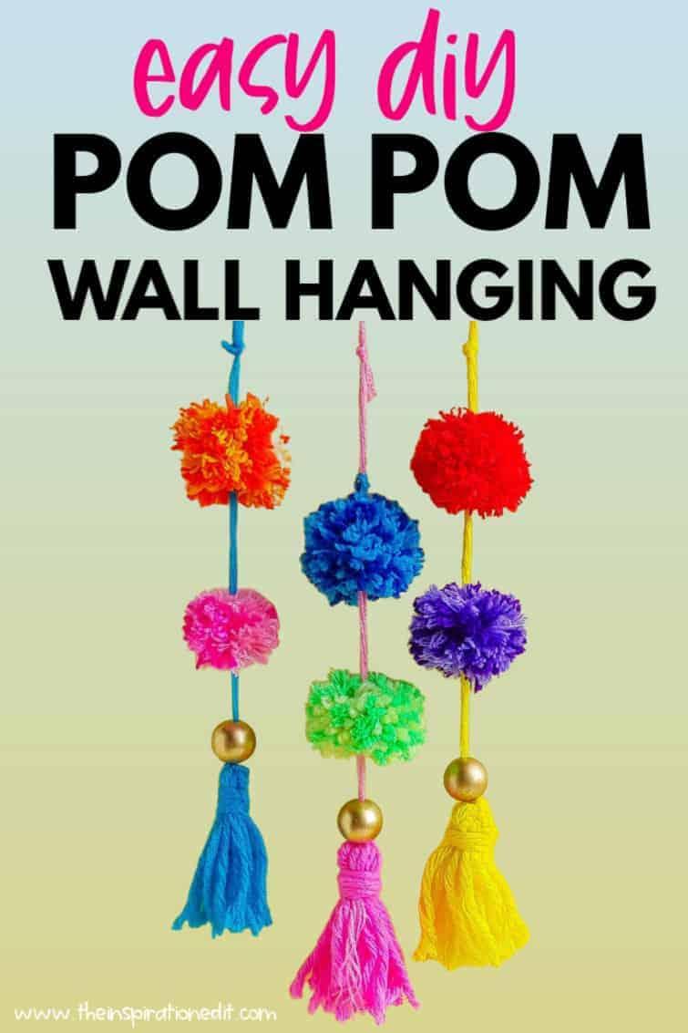 easy pom pom wall hanging