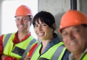 women on a construction site