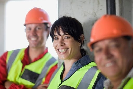 women on a construction site