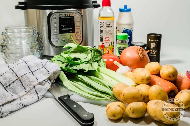 InstantPot Veg Soup Ingredients