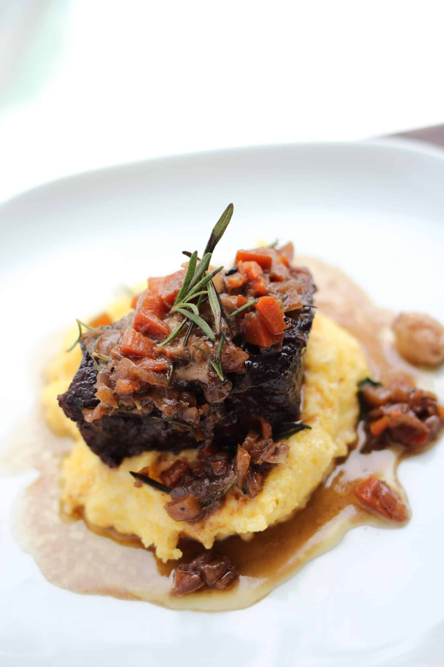 beef and polenta