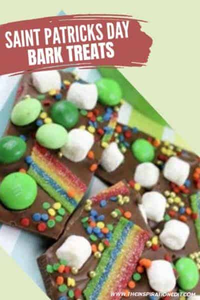 saint patricks chocolate bark