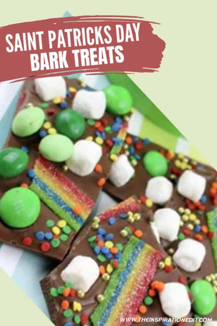 saint patricks chocolate bark