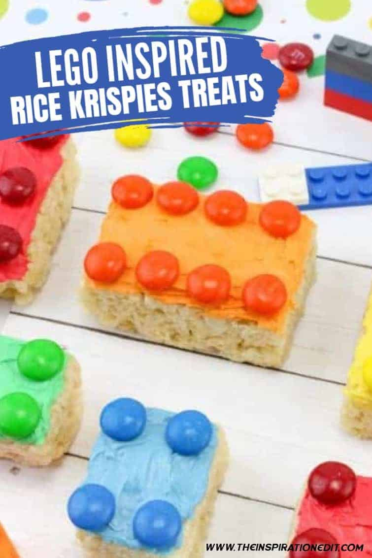rice krispy lego treats for a lego party