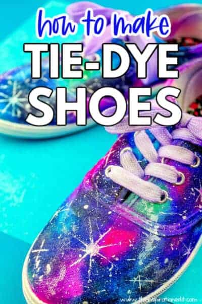 how to make tie dye shoes