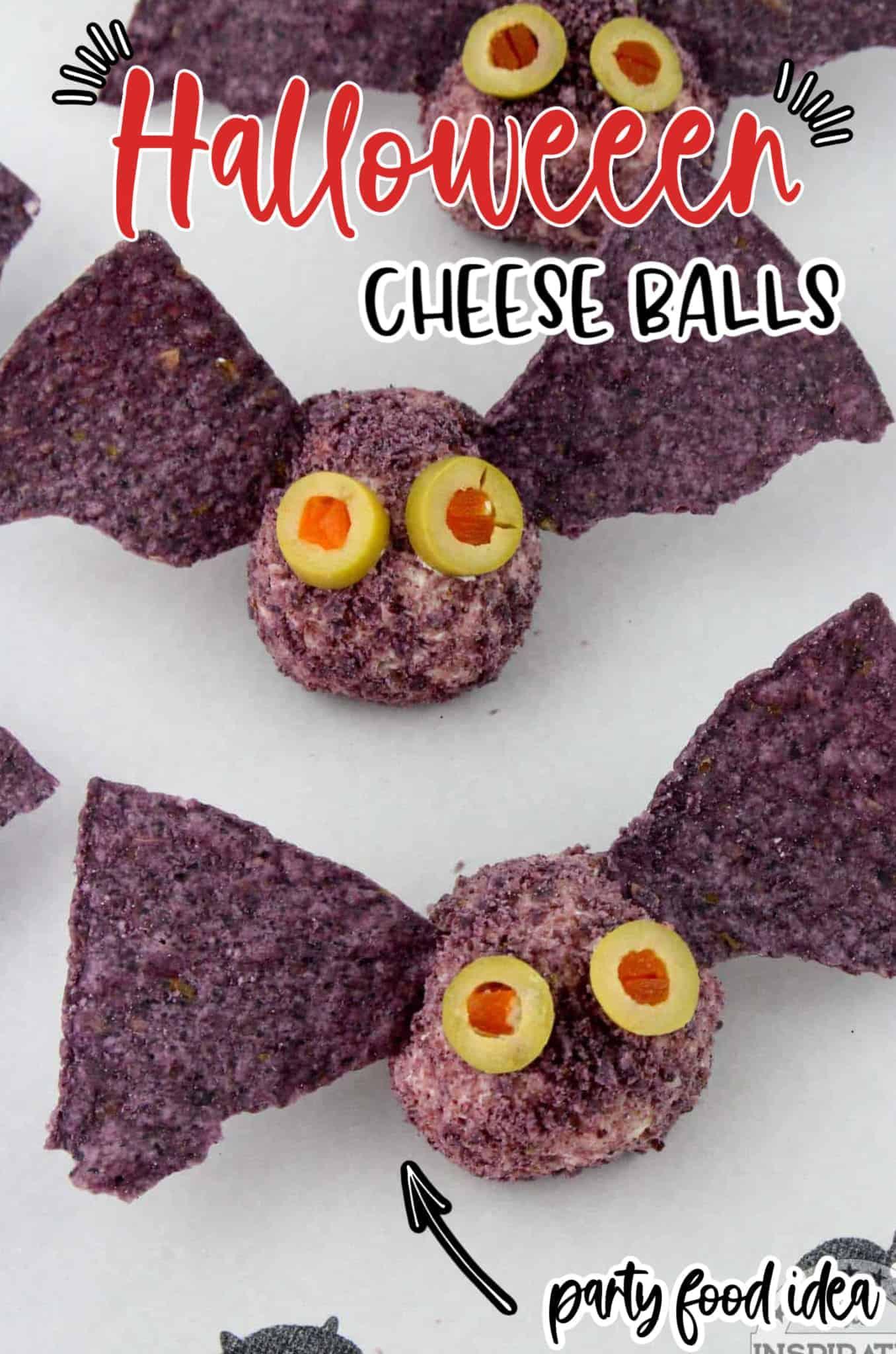 halloween cheeseball party food idea