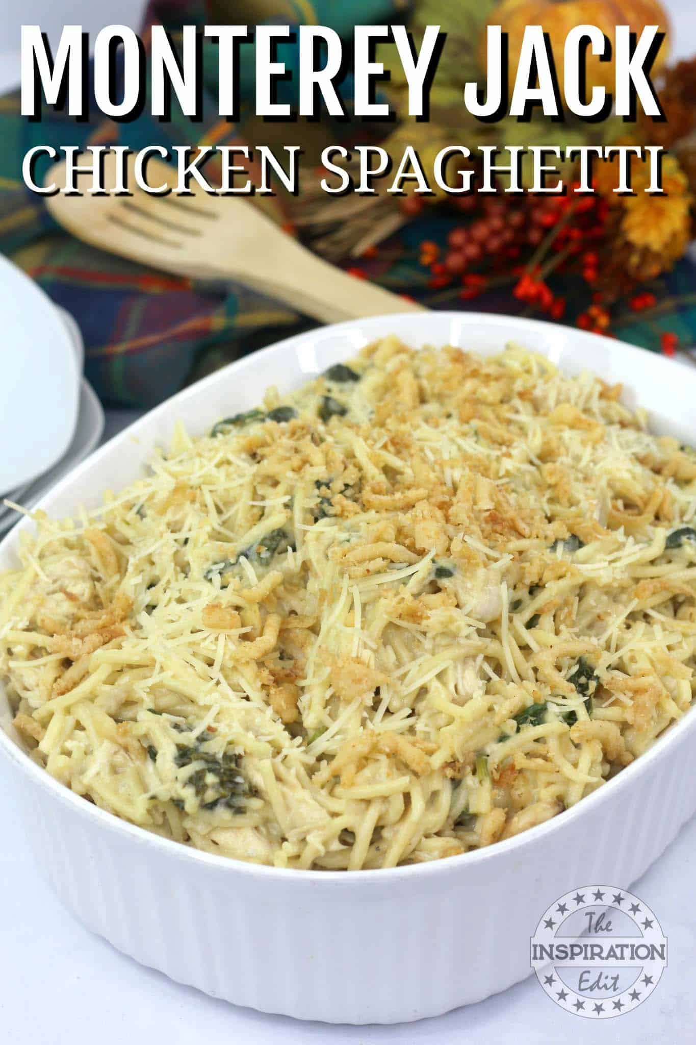 Monterey jack chicken spaghetti recipe
