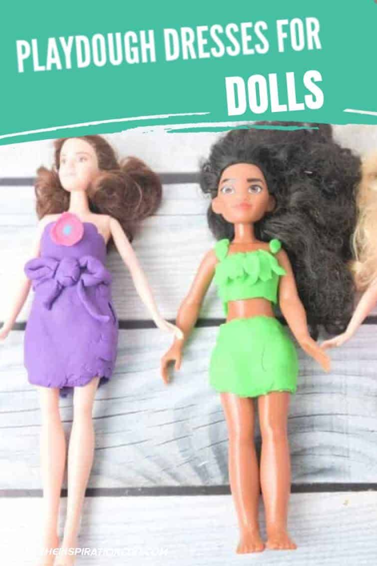 playdough dresses for dolls