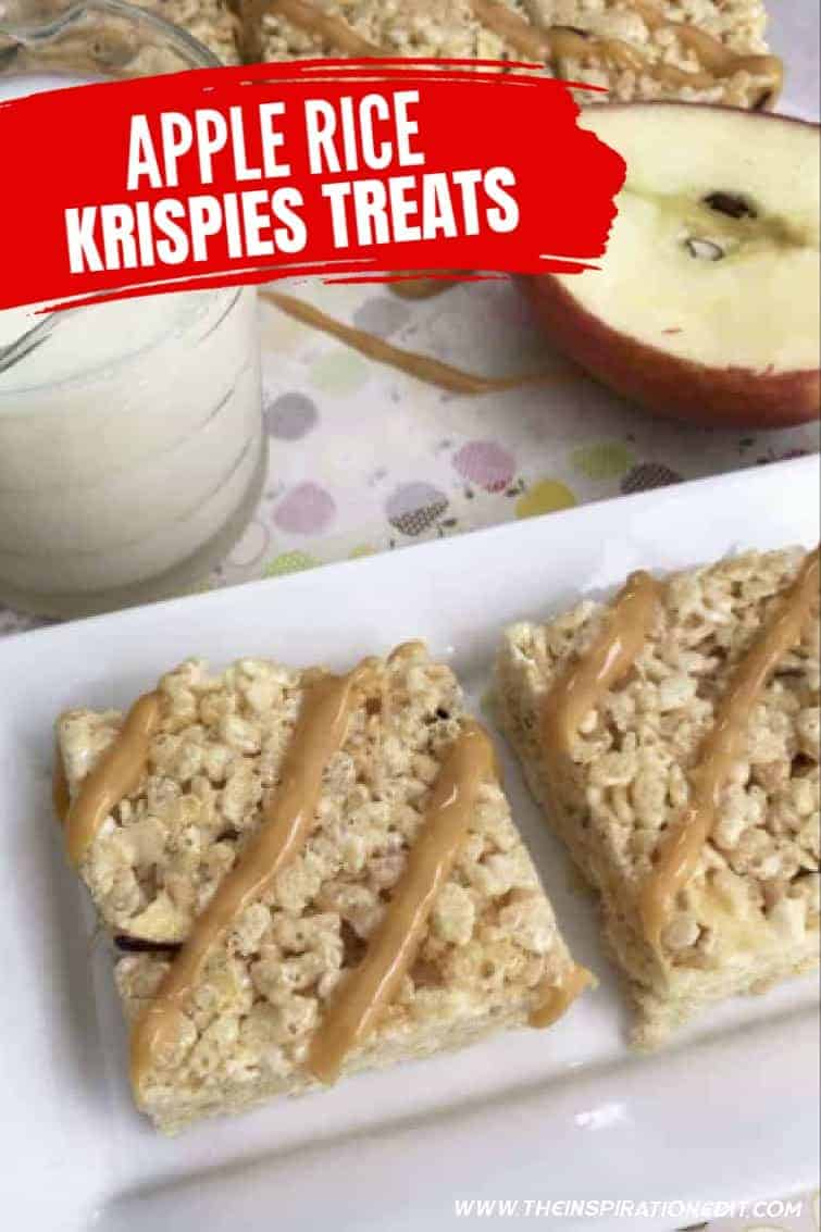 autum carael apple rice krispy treats