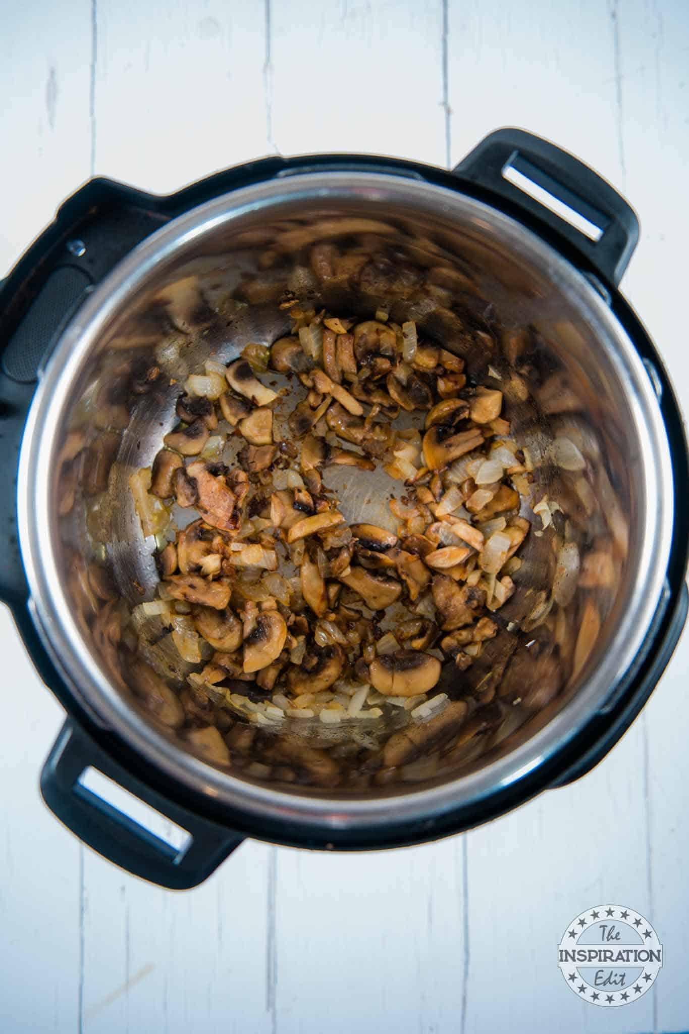 cooked mushrooms instant pot recipe
