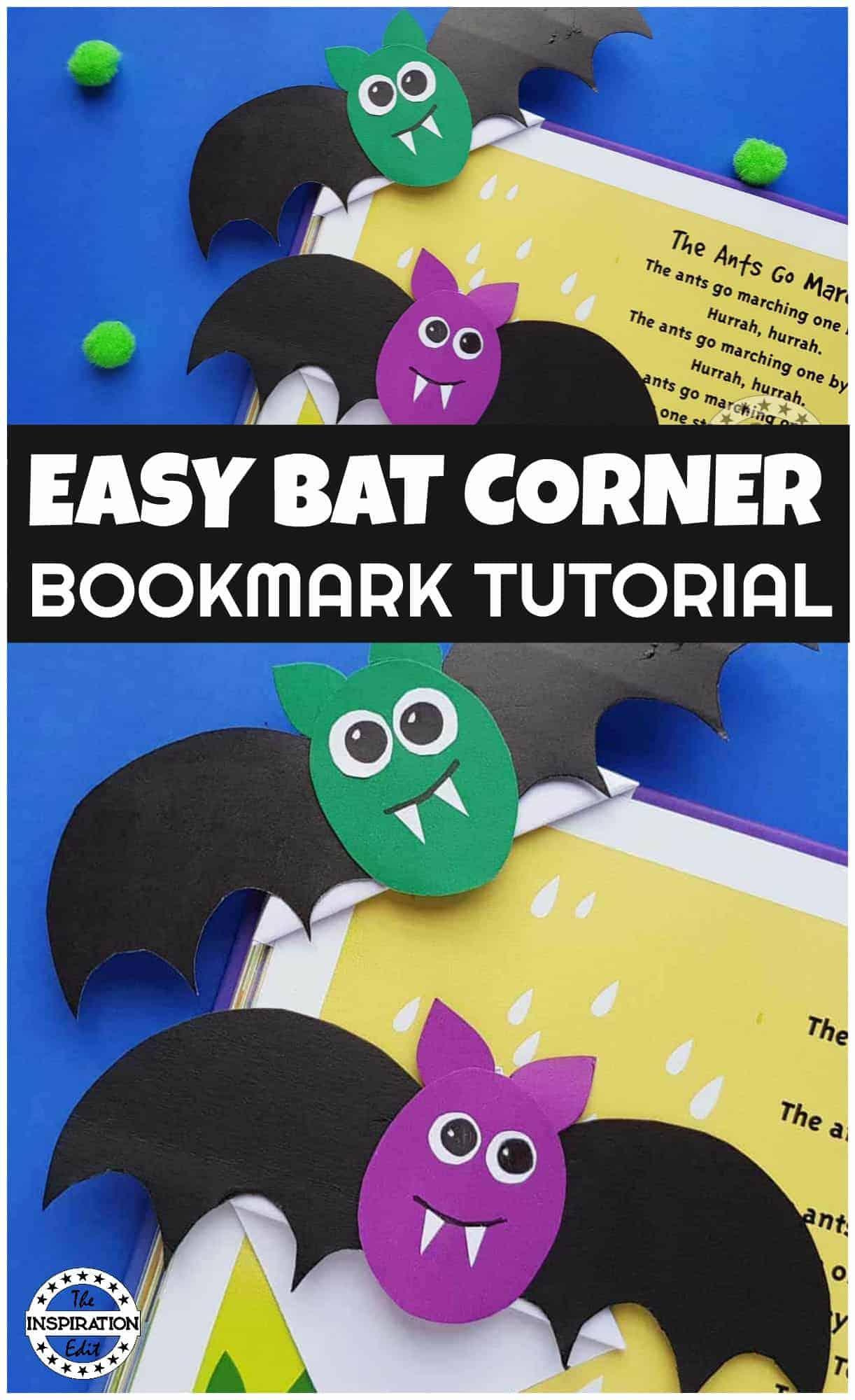 halloween bat bookmarks