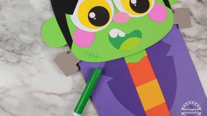 frankenstein paper craft