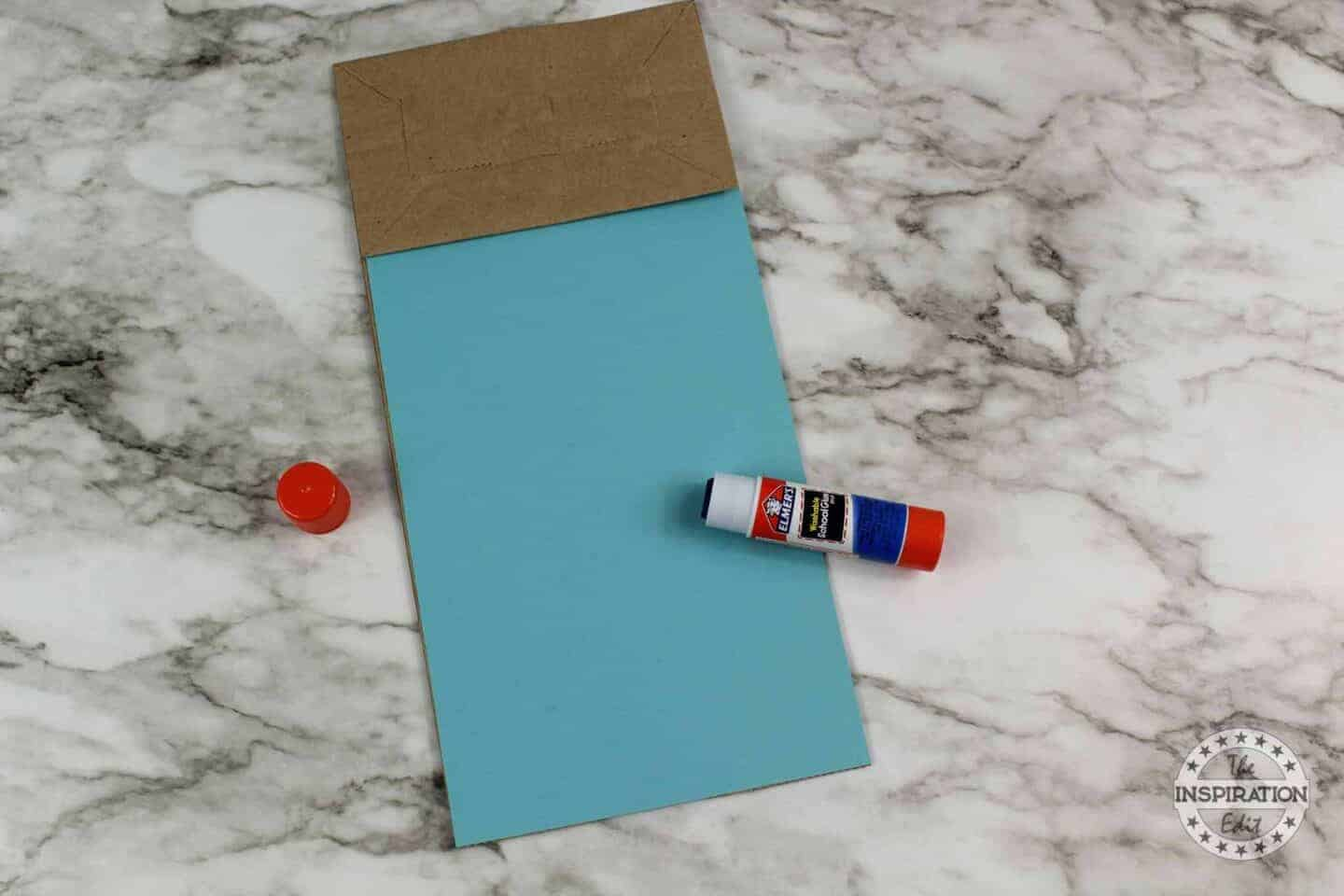 ADING BLUE TEMPLATE TO THE ZOMBIE PAPER BAG PUPPET