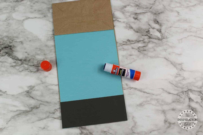 Glue black card stock to make a zombie craft