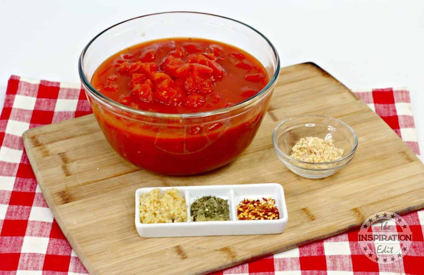 ingredients for instant pot spicy pasta marinara