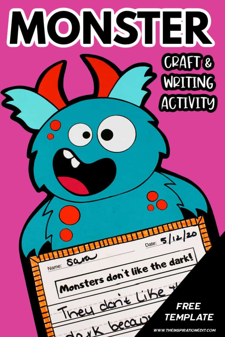 Monster craft and writing activity 2