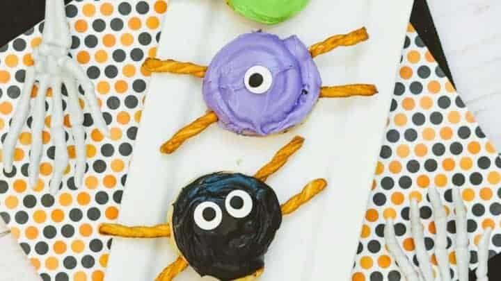 Halloween spider snacks