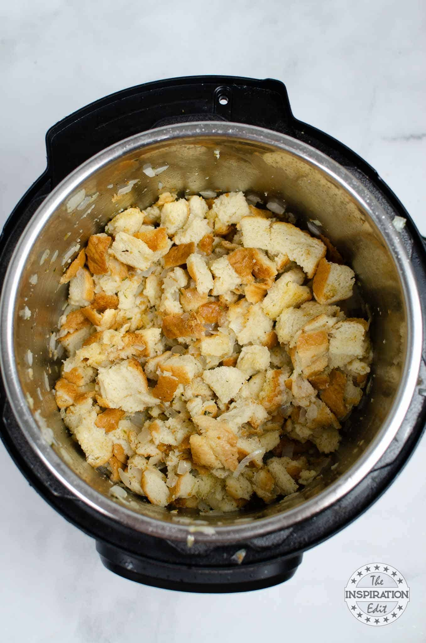 making stuffing in the instant pot