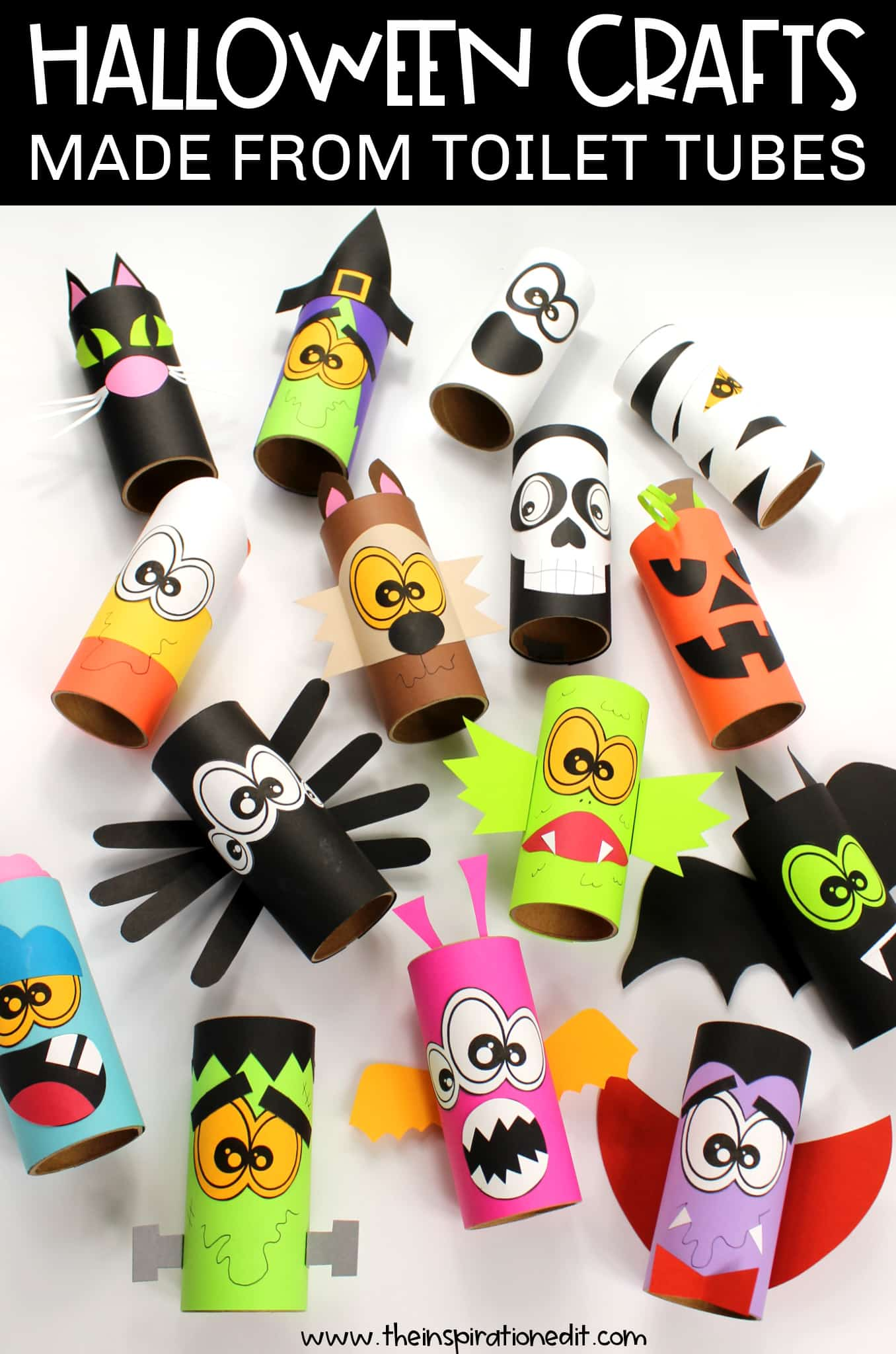 Halloween crafts made from toilet tubes