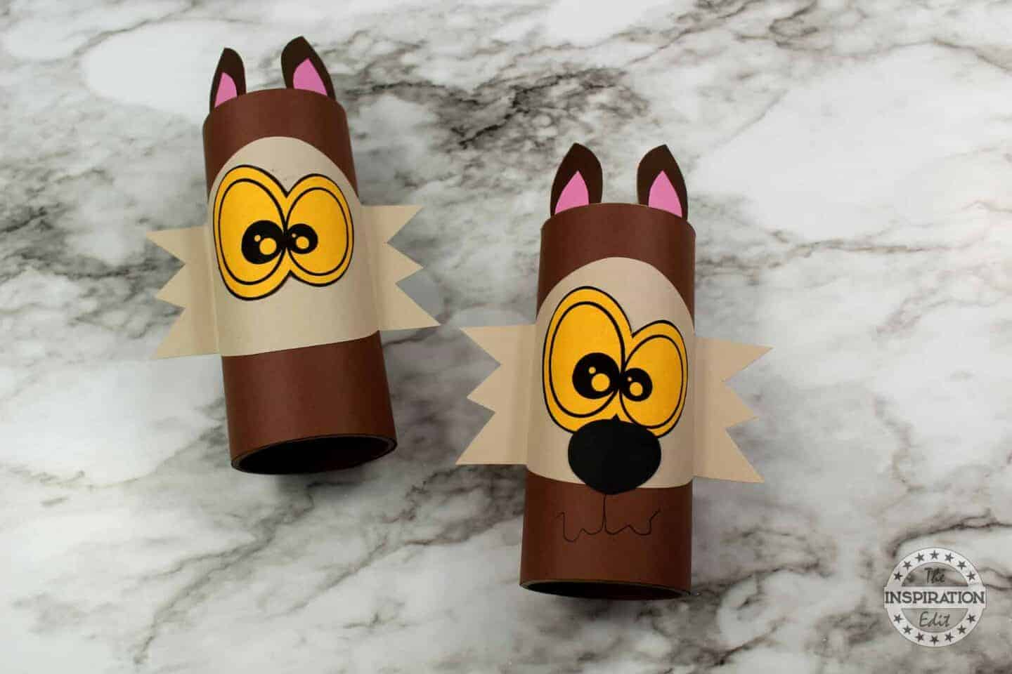 WEREWOLF CRAFT for kids made from a toilet roll
