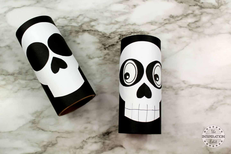toilet roll skeleton craft for kids