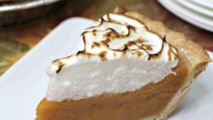 Sweet-potato-pie-recipe with marshmallow topping