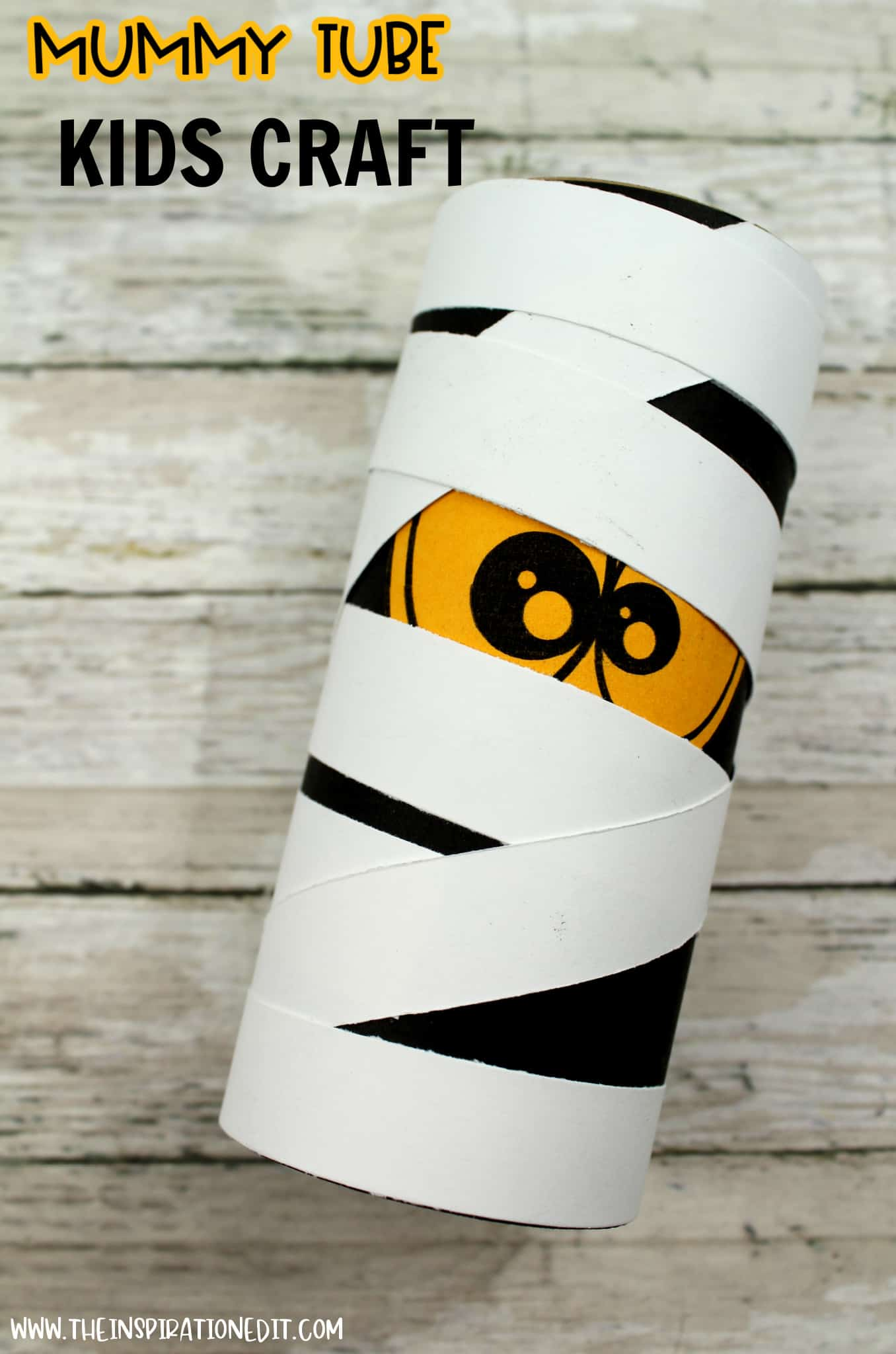 toilet tube mummy for halloween