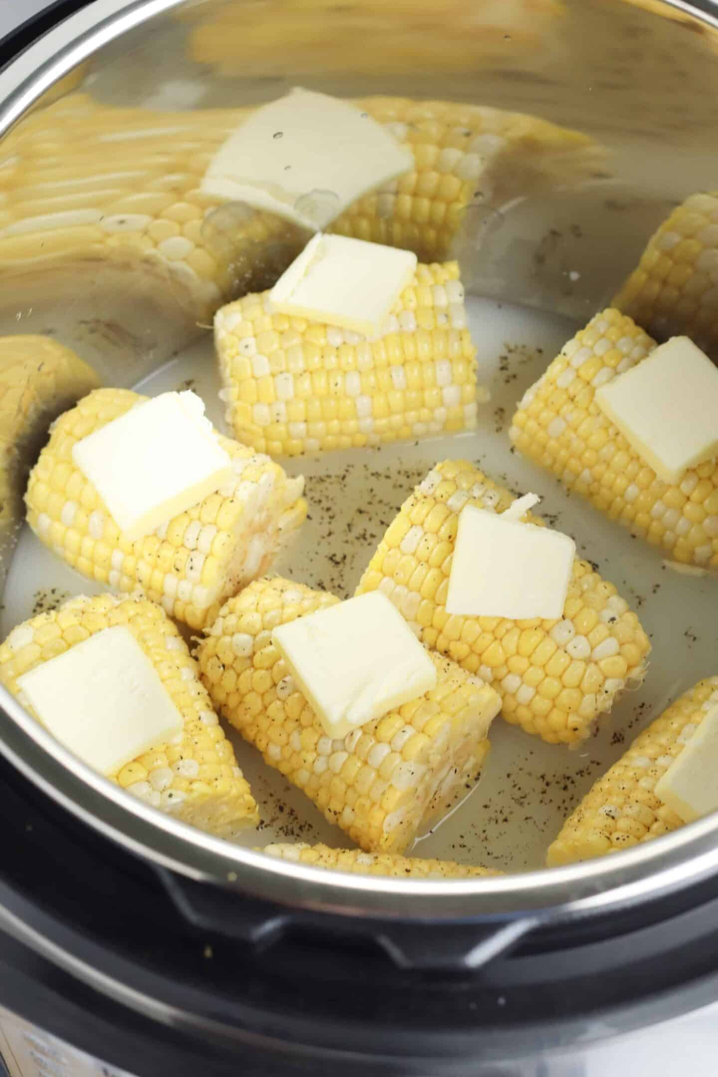 corn on the cob cooked int he pressure cooker
