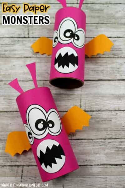 PAPER MONSTER TOILET ROLL CRAFT