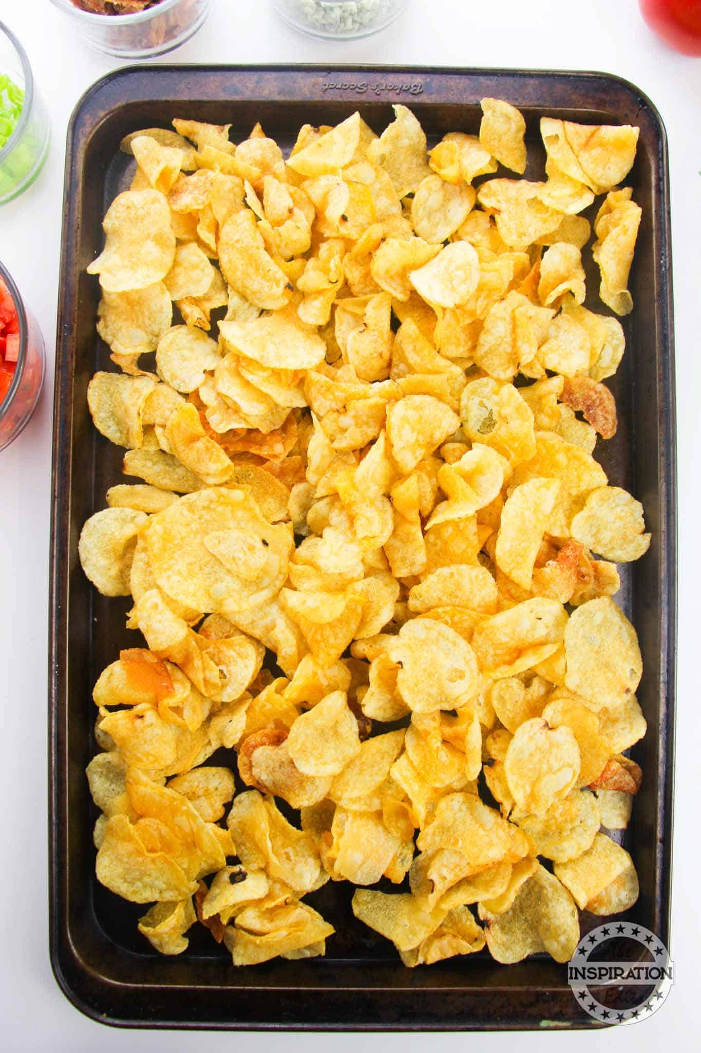 kettle chips on a sheet pan