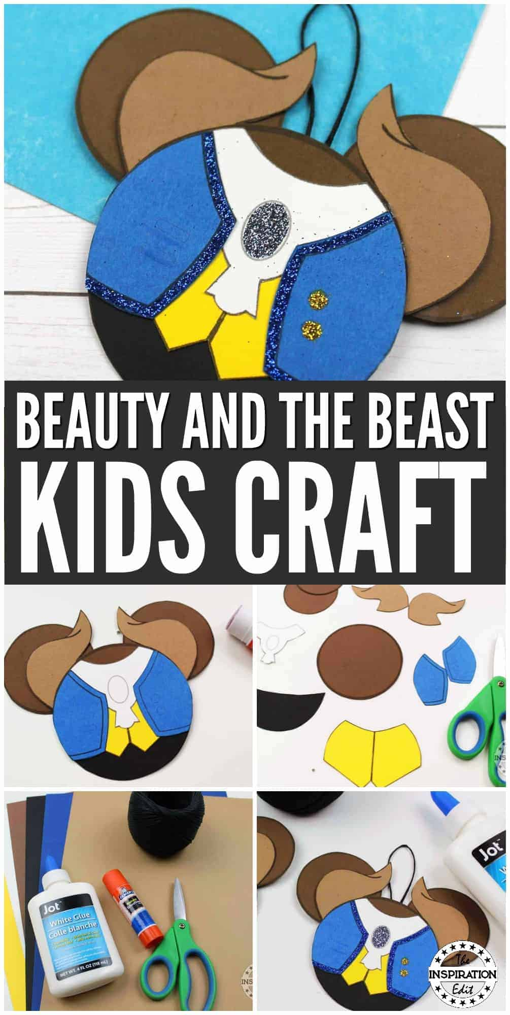 DISNEY BEAST PAPER CRAFT DECORATION