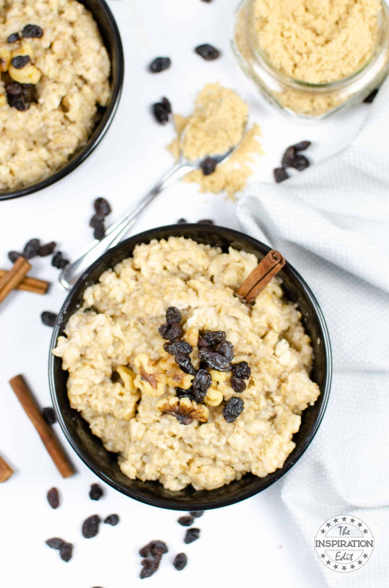 instant pot oatmeal with cinnamon