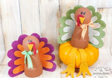 clay pot turkey craft for thanksgiving