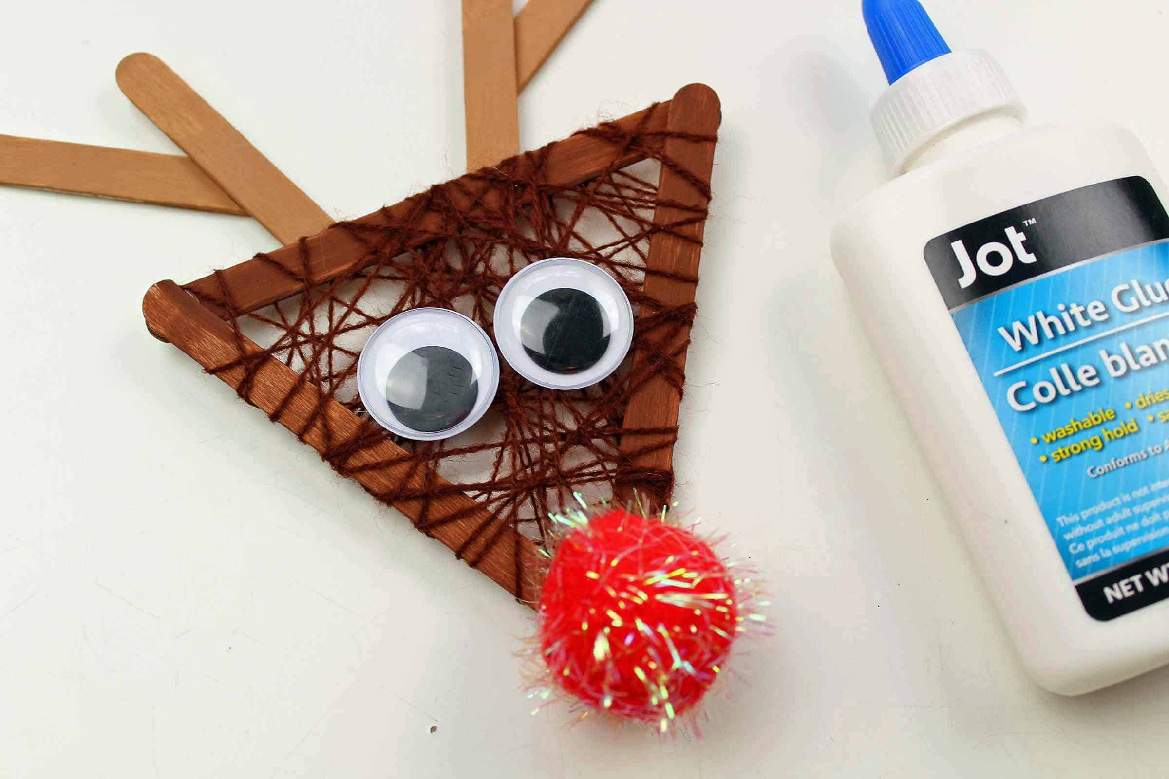 Rudolph Craft with Popsicle Sticks
