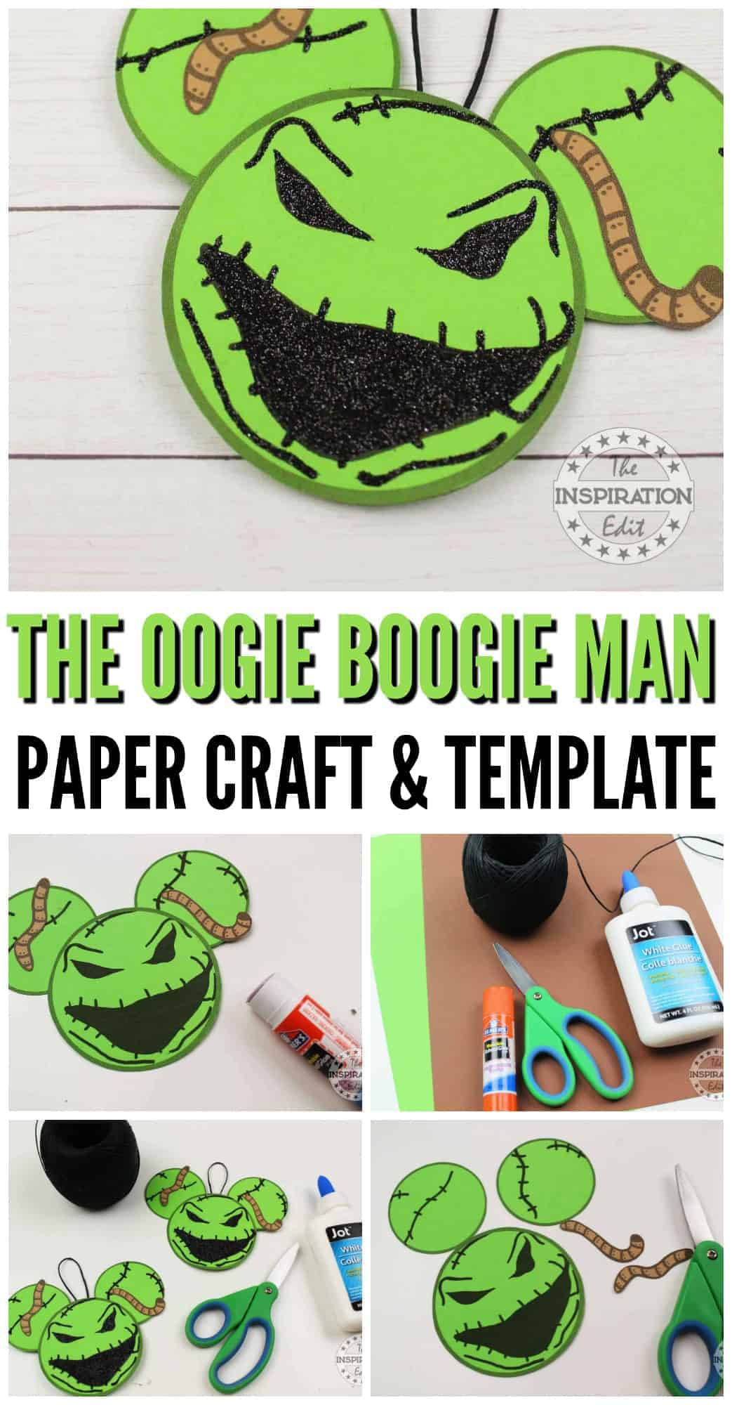 the nightmare before christmas crafts with the oogie boogie man free template